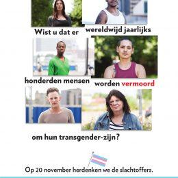 Poster Transgender Gedenkdag 2018