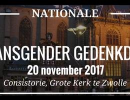 Transgender Gedenkdag in Zwolle
